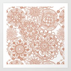 Rose Gold Mandala Pattern Art Print