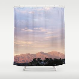 Sunset over Saddleback Mountain Shower Curtain