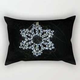 Christmas Snowflake in Ice Blue Rectangular Pillow