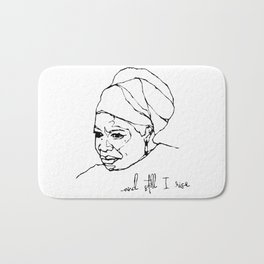and still I rise Bath Mat