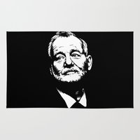 bill murray Area & Throw Rugs featuring Bill Murray by Laura Lindsey