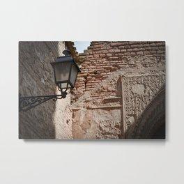 Alhambra Corner Detail Metal Print