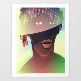 Ebony Coral Headdress Colors Art Print