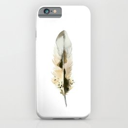 BROWN FEATHER iPhone Case