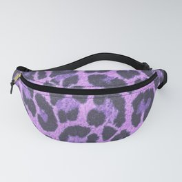Leopard Print - Whimsical Purple Fanny Pack