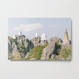 Floating Pagodas Temple, Thailand | Color Travel Photography  | Hidden gem in Lampang Province Metal Print