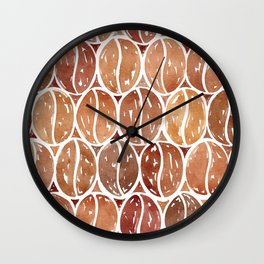 Watercolor Coffee Beans Wall Clock