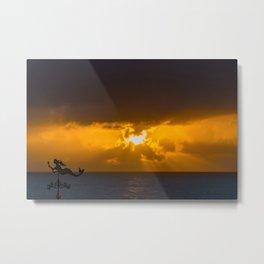 Mermaid Sun Rays Metal Print