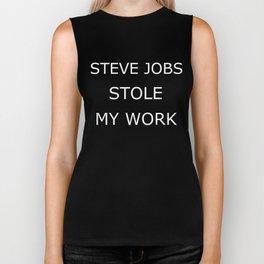 Steve Jobs stole me Biker Tank