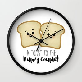 A Toast To The Happy Couple! Wall Clock