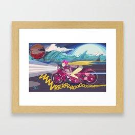 Biker Girl Framed Art Print