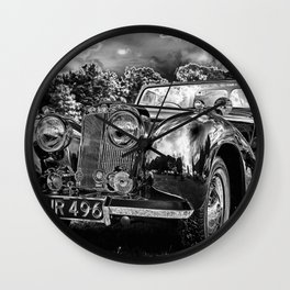 Black old car Wall Clock