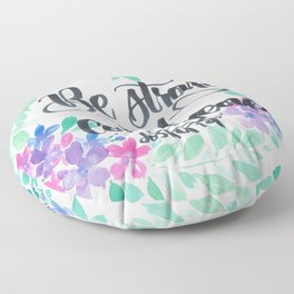 Joshua 1:9 Be Strong and Courageous Floor Pillow