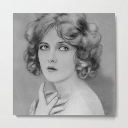 Ziegfeld Follies Showgirl, the Glamourous Mary Nolan black and white photography - photographs Metal Print