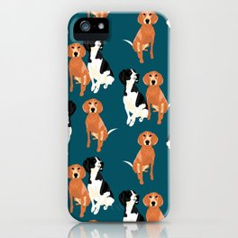 Sorella and April Mae pattern iPhone Case