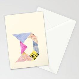 Tangram Alphabet - D Stationery Cards