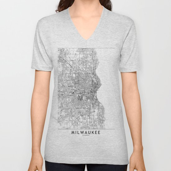 Milwaukee White Map by multiplicity