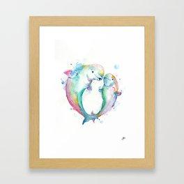 Bubbly Belugas Framed Art Print