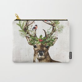 Rustic Christmas Deer Carry-All Pouch