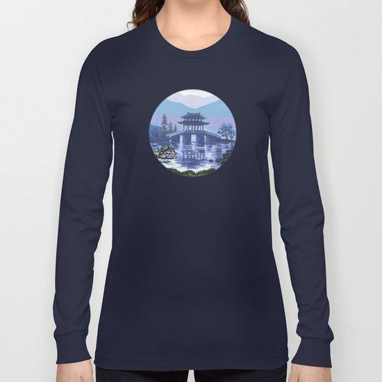 Japanese landscape Long Sleeve T-shirt