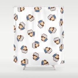 Puglie Coffee Shower Curtain