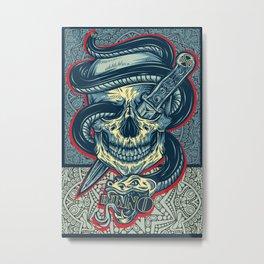 Rubino Logo Tattoo Skull Metal Print