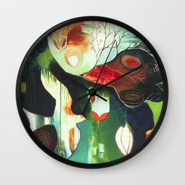 """Inner Whisper #2"" Original Painting by Flora Bowley Wall Clock"