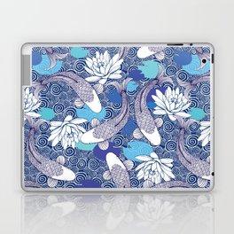 Blue Koi Ripples Laptop & iPad Skin