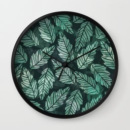 Colorful leaves IV Wall Clock