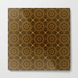 Abstract Moroccan Tiles Metal Print