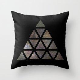 Galaxy Triangular Multicolor Throw Pillow