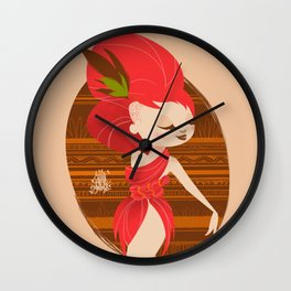 RedHair Diva Wall Clock