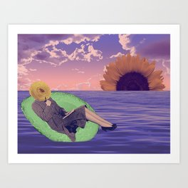 Avocado Boating Art Print