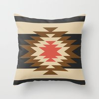 aztec Throw Pillows featuring Aztec 1 by Aztec