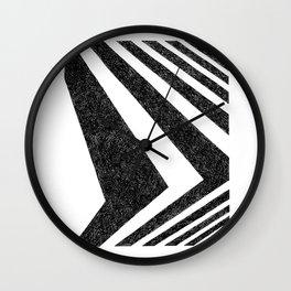 BLACK WHITE GEOMETRIC 10 Wall Clock