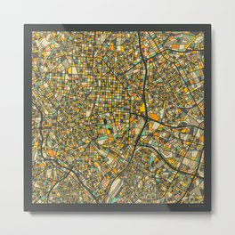 MADRID MAP Metal Print