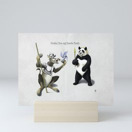 Donkey Xote and Sancho Panda Mini Art Print