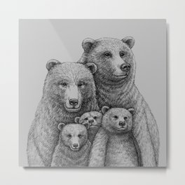 Family photo (mr. Bear) Metal Print