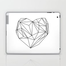 Heart Graphic (black on white) Laptop & iPad Skin