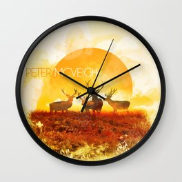 Sunset adaption | Peter McVeigh Wall Clock