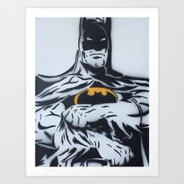 The Bats Body B&W Spray Painting Art Print