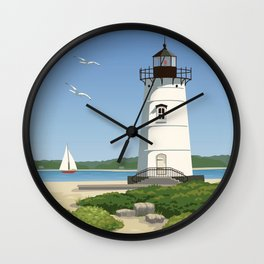 Martha's Vineyard Edgartown Lighthouse Wall Clock