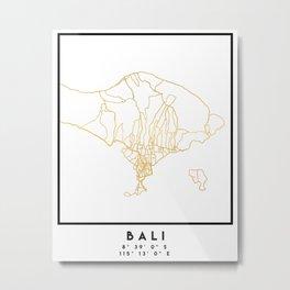 BALI INDONESIA CITY STREET MAP ART Metal Print