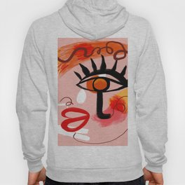 Face Blush Pink Abstract Hoody
