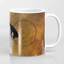 Beautiful amarican indian with dreamcatcher Coffee Mug
