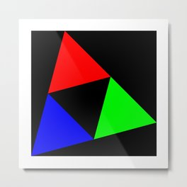 Triangles in a Square Metal Print
