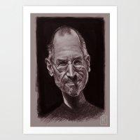 steve jobs Art Prints featuring Steve Jobs by AndreKoeks