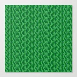 Pretty Green Zebra Pattern Canvas Print