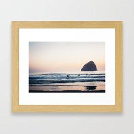 Cape Kiwanda Surfers - Pacific Northwest Framed Art Print