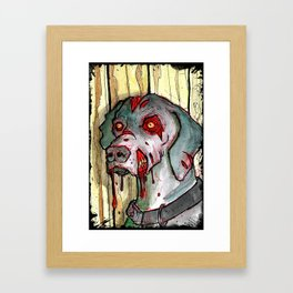 zombie dog Framed Art Print